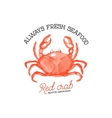 fresh seafood Red crab seafood restaurant Hand vector image