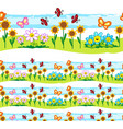 spring elements seamless line vector image vector image