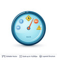 speedometer with road signs vector image vector image