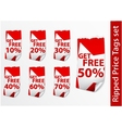 Set of ripped price tags vector image