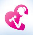 woman sport vector image vector image