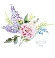 Lilac bouquet vector image