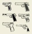Handguns vector image