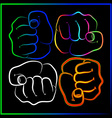 Abstract fist vector image