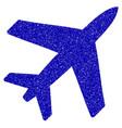 airplane icon grunge watermark vector image