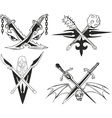 blades crossed vector image