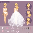 Blonde Bride Character Constructor vector image