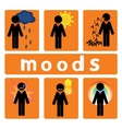 Business moods vector image