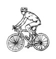 man with sunglasses cycling vector image