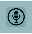 Pale blue microphone sign vector image