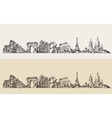 Paris France Vintage Engraved Sketch vector image