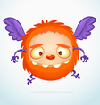 Flying Halloween cartoon orange monster vector image