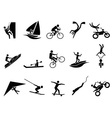 extreme sports icon set vector image vector image