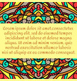 a beautiful leaflet with a multicolored mandala vector image