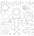 flat design elements gray vector image