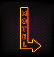 luminous motel marker composition vector image