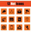 communication icon set vector image
