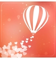Hot air balloon with flying hearts Romantic vector image