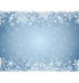 grey background with frame of snowflakes vector image