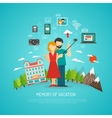 Photography concept flat vector image