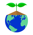 icon plant and earth vector image