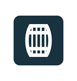 barrel icon Rounded squares button vector image