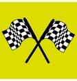 checkered flag design vector image