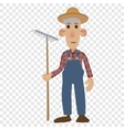 Farmer cartoon icon vector image