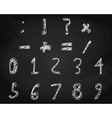 Hand drawn child English alphabet chalk on school vector image