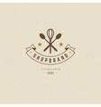Restaurant Logo Template Design Element vector image