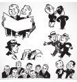 retro businessmen vector image