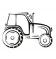 Tractor symbol vector image