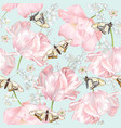 tulip butterfly pattern vector image