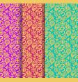 buddhism paisley seamless pattern set vector image