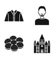 history profession and or web icon in black style vector image