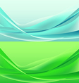Set of waves abstract vector image