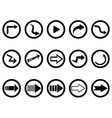 arrow buttons set vector image vector image