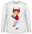 Baseball shirt vector image vector image