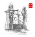 Hand drawn Vintage gate vector image