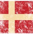 Denmark retro flag vector image