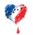 bleeding heart colors of the French flag vector image