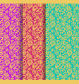 buddhism paisley seamless pattern set vector image