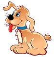Cheerful puppy vector image