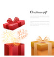 christmas gift boxes new year presents template vector image