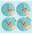 daylight saving time vector image