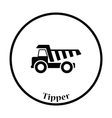 Icon of tipper vector image