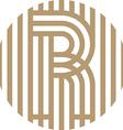 letter line r alphabet design vector image