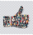 like people Transparency 3d vector image