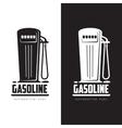 petrol station logo vector image