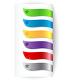 Set of colorful ribbons with star vector image